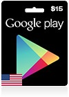 Google Play Gift Card US 15$